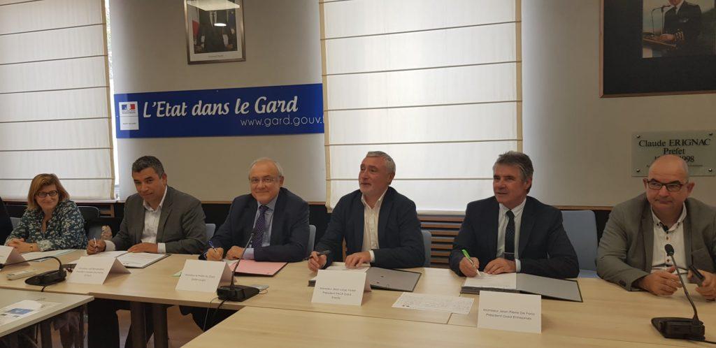 Signature en préfecture du plan : Le Gard une chance